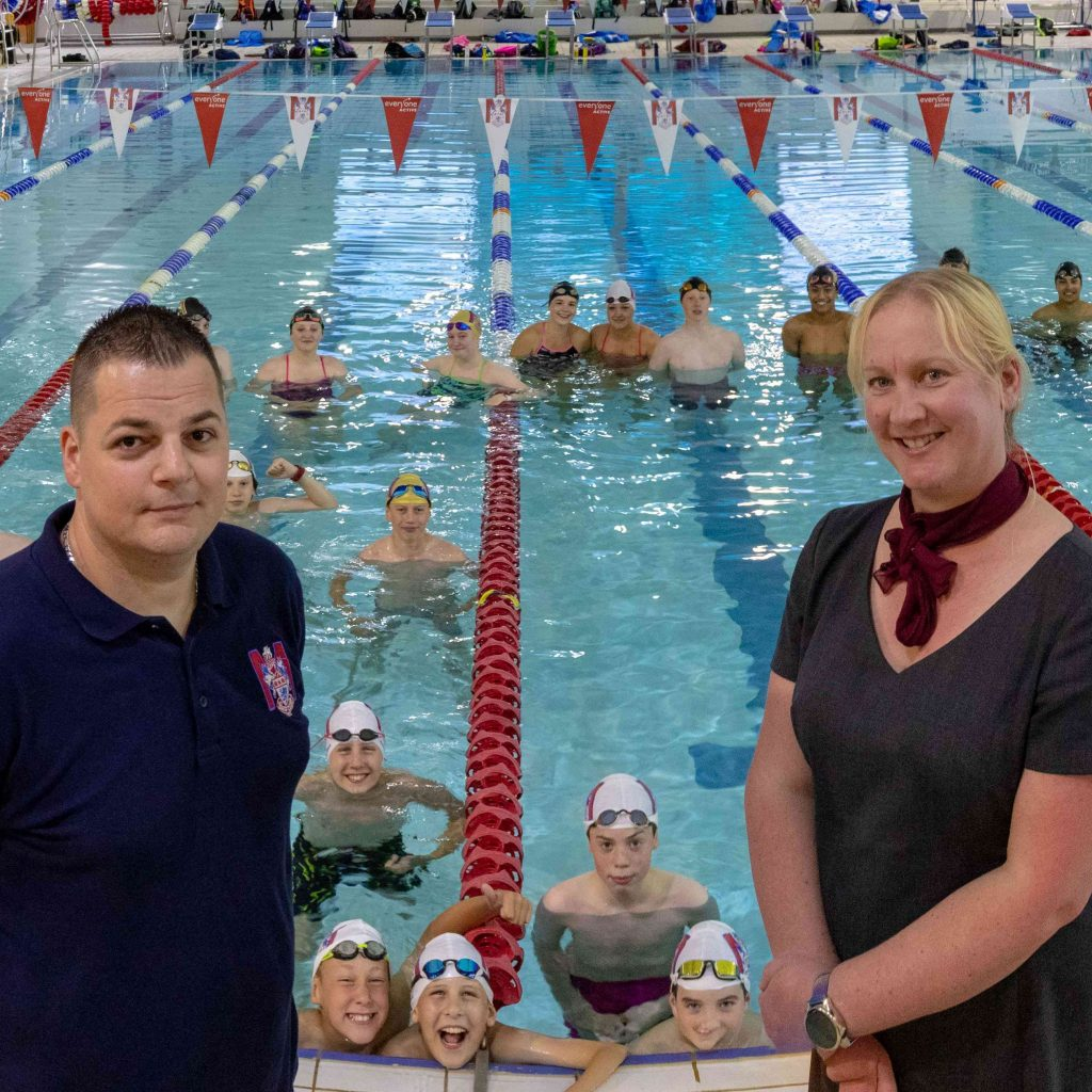 Club is back in the swim thanks to 5% pledge grant from Darlington Building Society as part of our ongoing commitment to the local community.